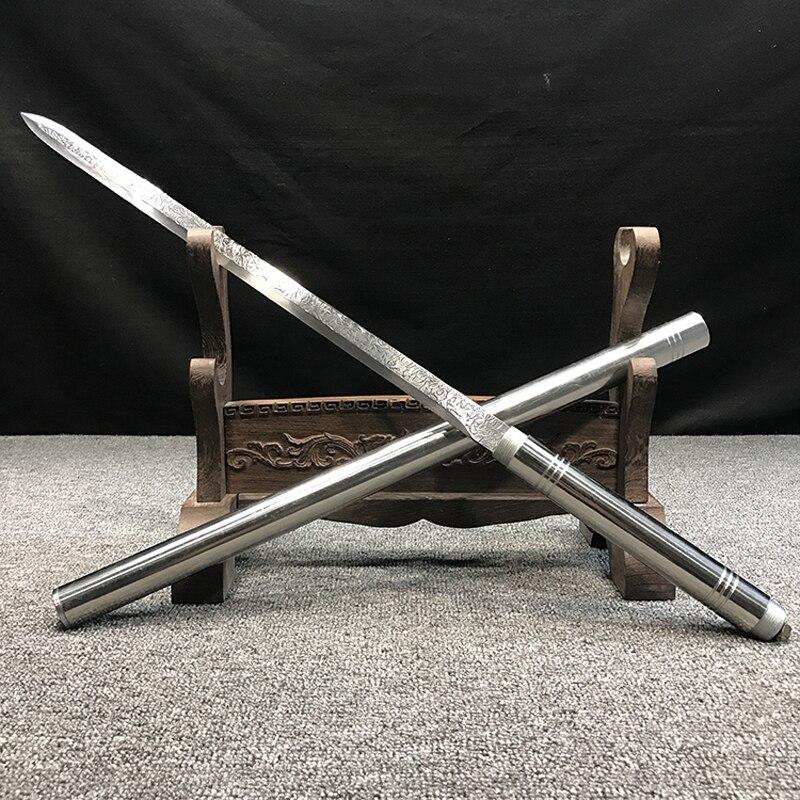 Corps entier en acier inoxydable épée auto défense accessoires maison artisanat affichage décor à la maison - 1