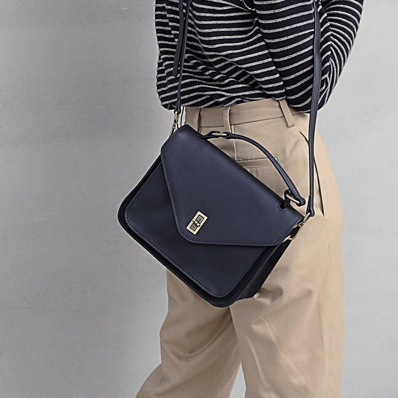 gelb Wilde Neue Frauen Einfache Schulter Schwarzes Taschen Umhängetasche Handtaschen Literarischen Platz Geschlungen Weiblichen Echtem Leder Kleine Tragbare Mode BrwTfrdWUq