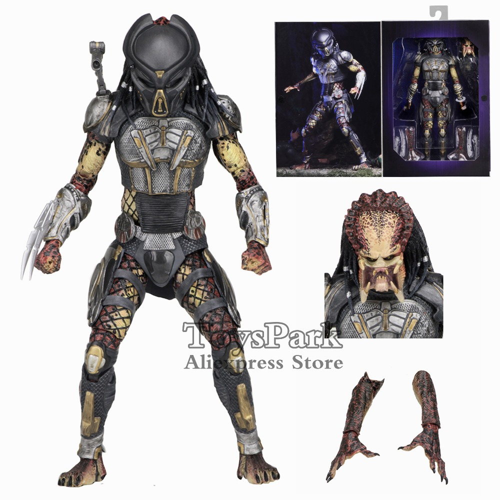 NECA Reel Toys 2018 Ultimate Fugitive Predator 7 Movie Action Figure Unmasked Scarface Collectible Deluxe NEW IN BOX Original цена