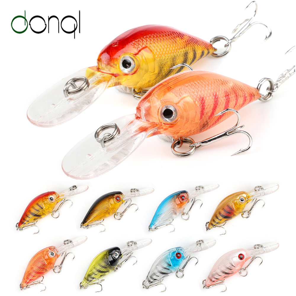 DONQL 2pcs/lot Minnow Fishing Lures Wobblers Crankbaits 6cm 4.7g Artificial Hard Swim Bait Wobblers For Trolling Fishing Tackle