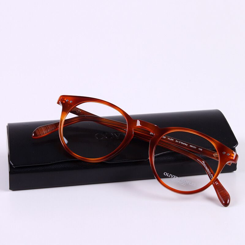 d953c0e7df783 De alta qualidade Do Vintage optical óculos moldura redonda OV5256 mulheres  oculos de grau óculos de miopia homens caixa original lente de prescrição