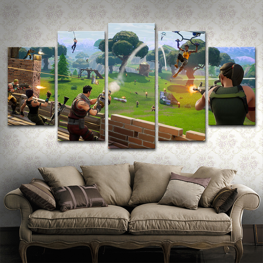 Wall Art Canvas Paintings Frame Home Decor 5 Pieces