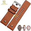 Genuine leather bracelet watch strap watchband wristwatches band 22 24 26 28 30mm With rose gold nail for DZ7271 7268 72827261