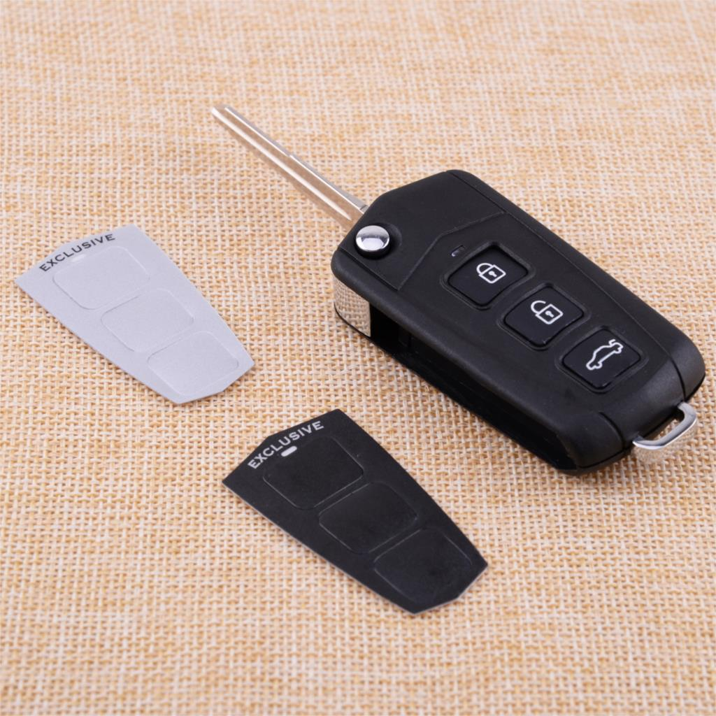 CITALL Car 3 Buttons + Panic Flip Key Blank Refit Remote Fob Fit for Hyundai Sonata Genesis Coupe 2010 2011 2012 2013