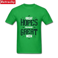 2017 Classic Short Sleeves Men S Great Hope Make Great Men T Shirt Cotton Abstract Letter