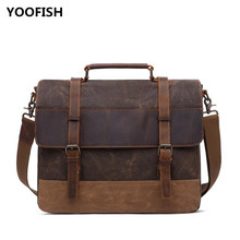 цена на YOOFISH Hot selling Classic Canvas Handbag Shoulder bag Crossbody bag Free Shipping Dark grey/Army green/Coffee/Cyan XZ-060