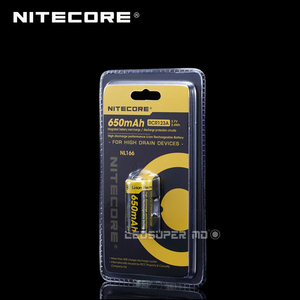 Image 3 - Nitecore batterie Li ion, Rechargeable, 650mAh, 3.7V, wh, NL166, RCR123A, produit Original