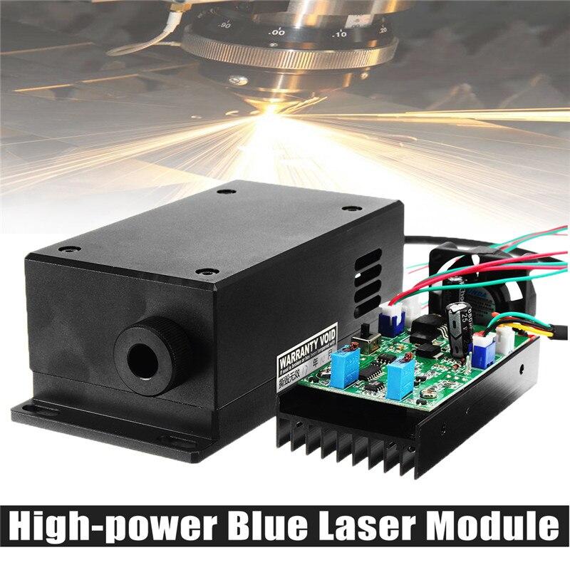 450/445nm 17 w 17000 mw Haute Puissance Tête Laser Gravure Module Focale Réglable Bleu Module Laser BRICOLAGE Bois machine de Gravure en métal