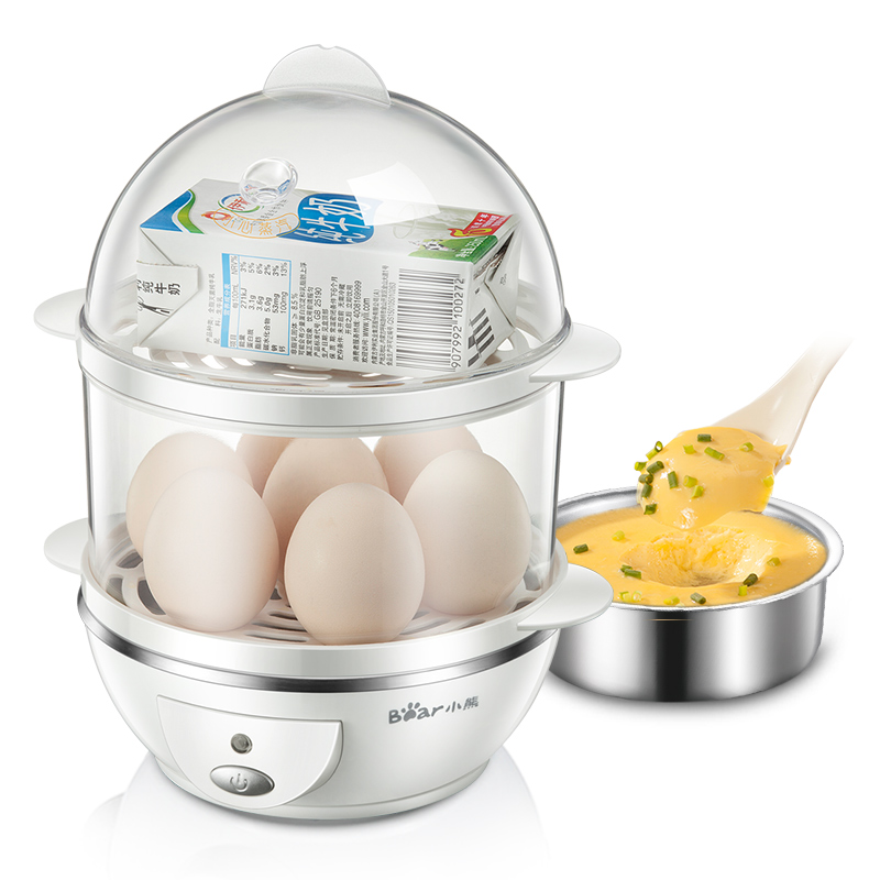 Multi Function Egg Steaming Device Household Double Layer Mini Stainless Steel Egg Boiler Steamed Egg Machine cukyi toaster household automatic multi function breakfast machine egg boiler stainless steel electric baking pan heating oven