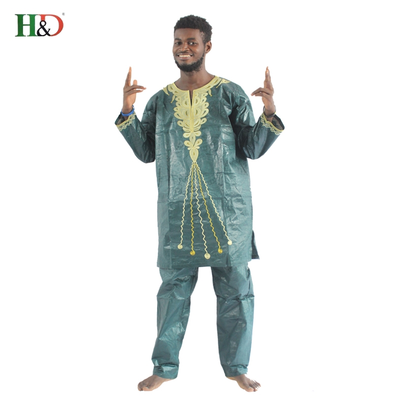 H & D 2017 tradisjonelle afrikanske herreklær Nye motedesigner Bazin - Nasjonale klær - Bilde 4