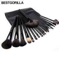 Professional 24pcs Makeup Brushes Set Kit with Case/Bag makeup kwasten foundation contour brush with eyebrow brush