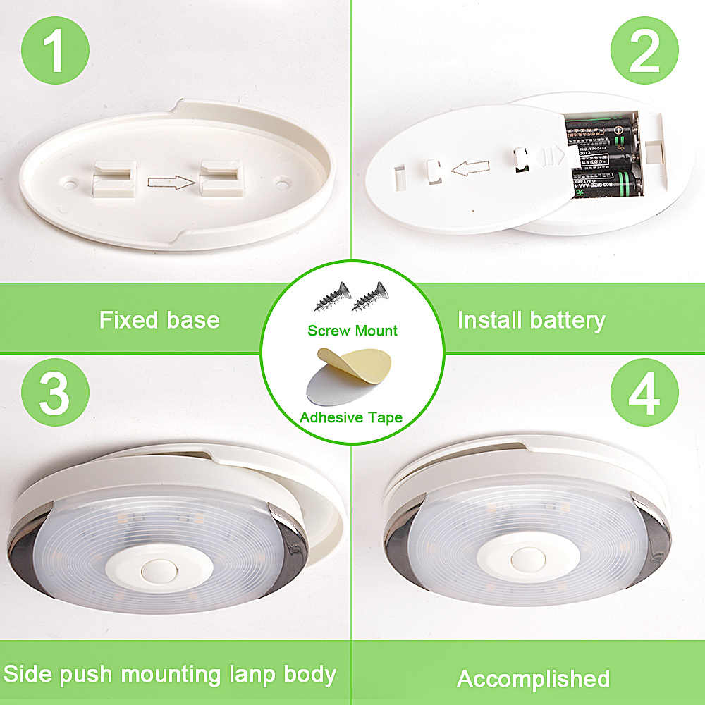 Sensor de Toque sem fio LEVOU Sob A Luz Do Armário Da Cozinha LEVOU Bateria Roupeiro/Armário Puck Luz com o Controlador Pode Ser Escurecido Lâmpada Noite