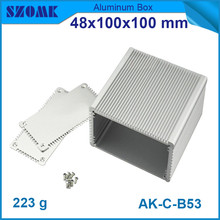 4pcs/lot heatsink alumium profiles silvery junction case for diy electrical pcb broad  48*100*100mm