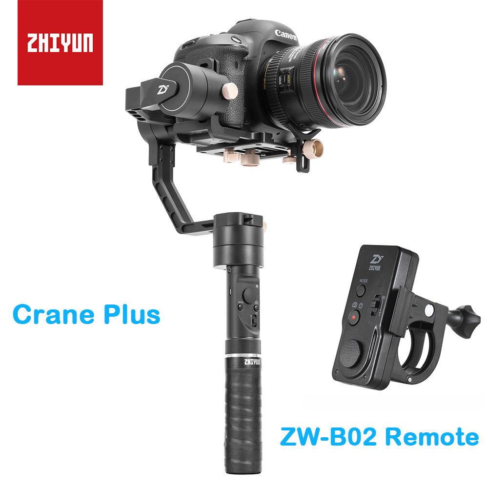 zhi yun Zhiyun Crane Plus 3-Axis Handheld Gimbal Camera Stabilizer POV Mode for Canon Sony Nikon Mirrorless DSLR Camera 2016 brand cute girls clothes summer children dresses plaid casual princess dress girls vestidos 10 old roupas infantis menina