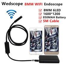 8 мм 5 м беспроводной wi-fi эндоскопа android камеры бороскоп змея пробки 720 P водонепроницаемый автомобиля инспекции для ios iphone эндоскоп