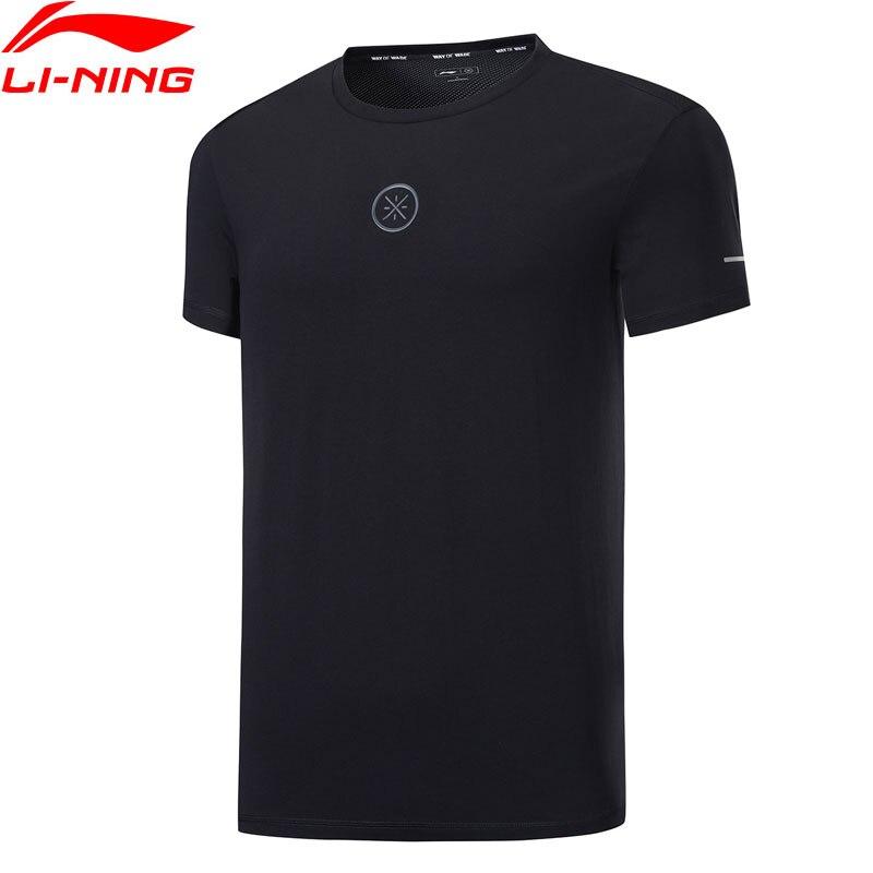 Li-ning גברים ווייד סדרת ג 'רזי 95% כותנה 5% סטרץ לנשימה רגיל Fit רירית נוחות ספורט חולצות ATSP109 MTS3069
