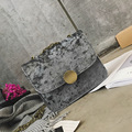 Women Bag Fashion Women Messenger Bags Suede Chain Hasp Casual Shoulder Bag High Quality PU Leather Velvet Crossbody handbag