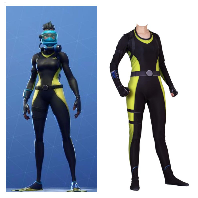 High Quality Unisex Kids Adult Game Reef Ranger Girl Women Cosplay Costumes Zentai Role Play Jumpsuits Bodysuit Suit 2019 New