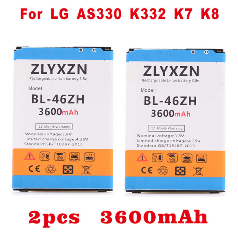 3600mAh BL46ZH BL 46ZH Battery for LG K7 MS330 LS675 Tribute