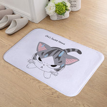 New Arrive Angry Cat Door mats for Entrance door Carpet Kitchen Mat Door Mat Cat Kitchen Carpet Toilet Tapete Rug Porch Doormat(China)