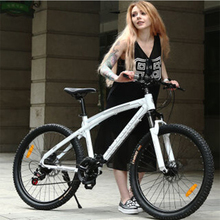 26-inch mountain bike 24/27/30-speed Adult men and women bicycles outdoor sport Aluminum double disc brakes bicicleta