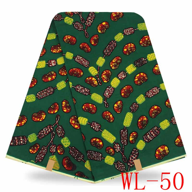 African Wax Prints Fabric Nigerian Ankara Multi Color Design