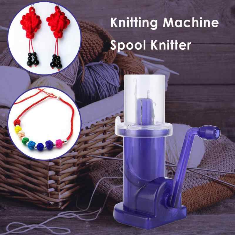 DIY Creative Hand-operated Embellish-Knit Knitting Machine Spool Knitter Embellish Weave Craft Bracelet Craft Sewing Accessories