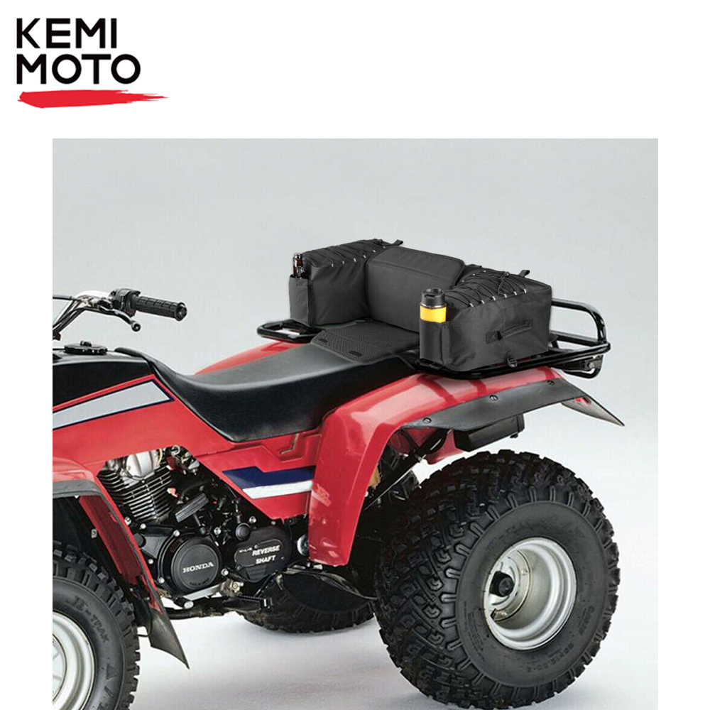 ATV Quad Rear Bag Padded Seat Bottom Support Storage Pack Rack Back Off Road for Can Am Outlander 400 for Polaris 300 for Yamaha