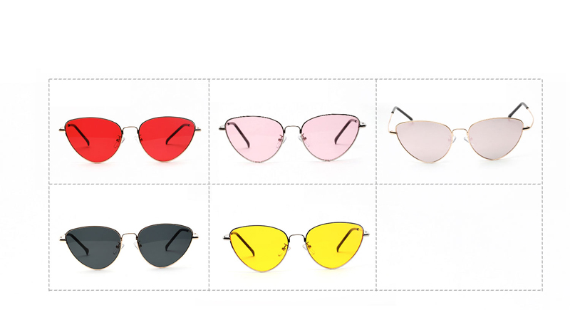 HTB14ZjEpgoQMeJjy0Fnq6z8gFXaB - Retro Cat Eye Sunglasses Women Yellow Red Lens Sun glasses Fashion Light Weight Sunglass for women Vintage Metal Eyewear