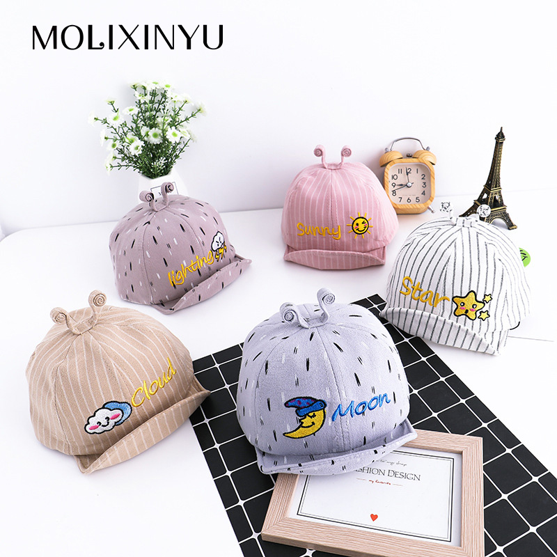 Molixinyu New Baby Duck Tongue Visor Fashion Boy Girl Sun Hat Baby Cartoon Spring Tentacles Summer Hat Baby Child Cap Adjustable Traveling Accessories