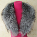 Hot Genuine Real Natural Whole Sliver Fox Fur Collar Coat Scarf 90-100 cm Fur Luxury Collar Scarf/Shawl/Wrap Neck Warm