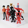 New Arrival 6pcs/set Miraculous Ladybug PVC Action Figure Toys Adrien Noir Agreste Cat Figures Toy Doll Christmas Gift for Kids