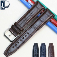 Pesno Watch Band Black Brown Dark Blue Watch Accessory 20mm 22mm Alligator Leather Watch Strap for IWC Portofino Chronogroph