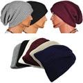 Hot Selling 2017 Chic Men Women Warm Winter Knitted Beanies Skull Bandana Slouchy Oversized Cap Hip Hop Hat Unisex Bonnet Spring