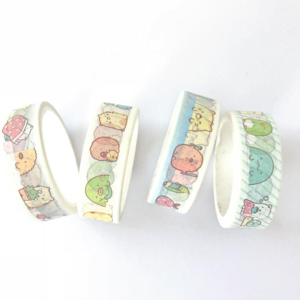 1,5 Cm * 5 Mt Nette Sumikko Gurashi Masking Tape Scrapbooking Dekorative Washi Band Tagebuch Notebook Album Diy Handwerk Attraktiv Und Langlebig