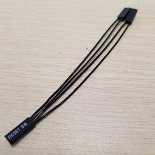 10PCS/Lot Motherboard Restart SW Reset Cable 2Pin 1 to 2 Splitter Support Double Start Switch