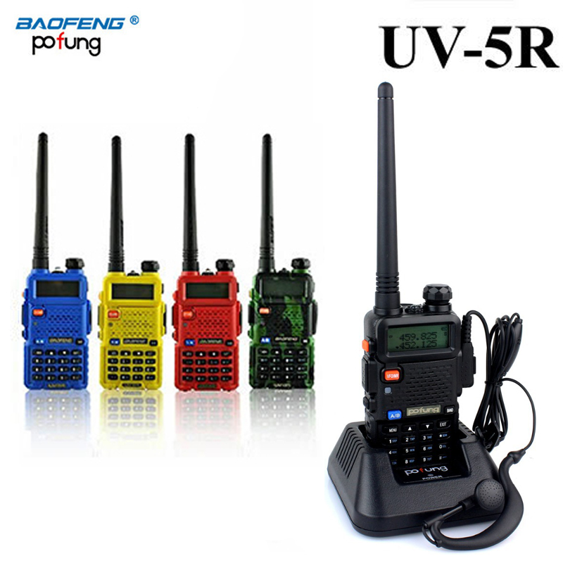 2 PCS Baofeng UV-5R UV 5R UV5R Walkie Talkie Two Way UHF VHF Ham CB Radio Station Transceiver Boafeng Portable For 10 Km Amador