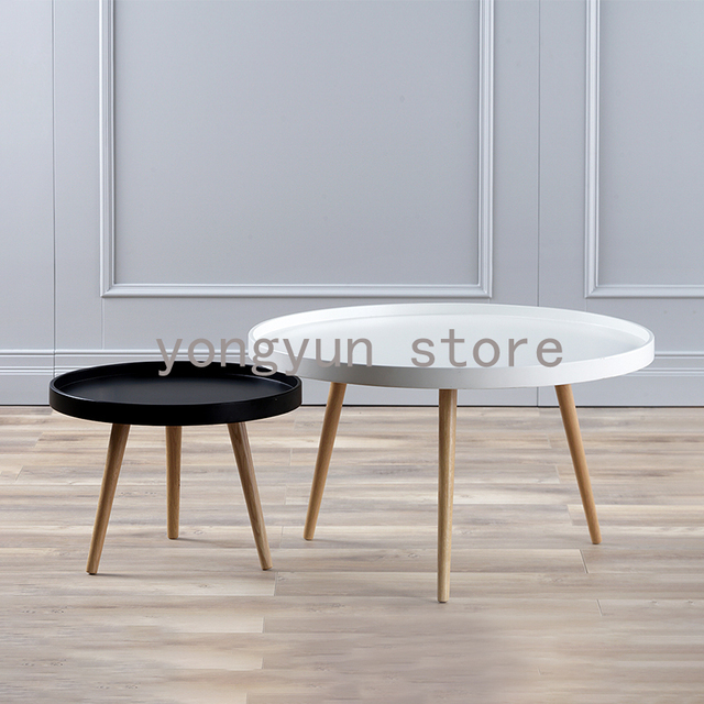 Fashion Tea Table Modern Design Solid Wooden Small High Low Side Living Room