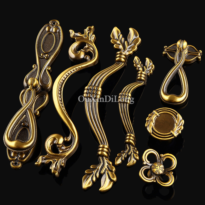 Top Designed 10PCS European Antique Kitchen Door Furniture Handles Cupboard Drawer Dresser Wardrobe Cabinet Pull Handles & Knobs