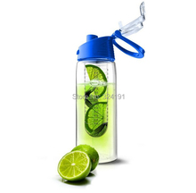 eco-friendly Tritan plastic cup water bottle free shipping , 700ml Infuser fruit