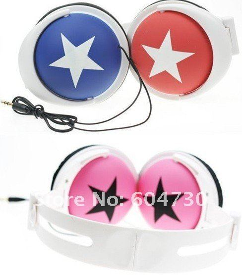 Back to School sales promotion Star portable design Mix-style Stereo Headphones For mix style For MP4 MP3 Phone Laptop HD008