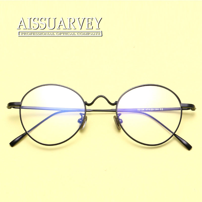 50ff0818d837 Retro Eyeglasses Frame Women Men Fashion Optical Eyewear Round Metal Korean  Glasses Frame Myopia Black Silver Golden Decoration-in Eyewear Frames from  ...