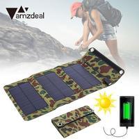 Amzdeal Yeni Taşınabilir USB Katlanabilir Güneş Paneli Güç Kaynağı Şarj Edilebilir Cep Telefonu Açık Seyahat Için Powerbank DIY Modülü