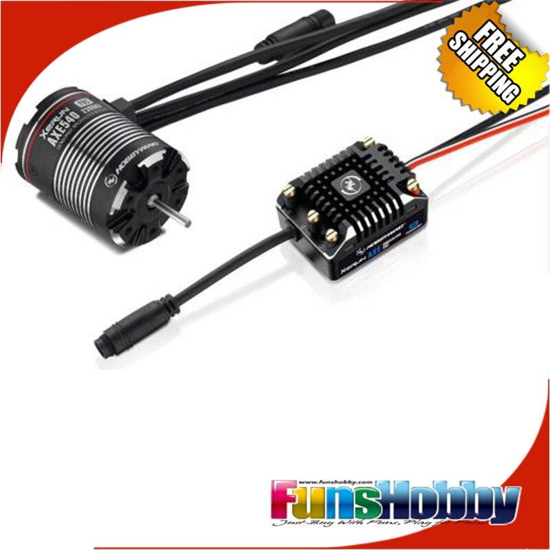 Hobbywing XeRun Axe sans balai ESC et moteur AX540 pour 1/10 chenille de roche
