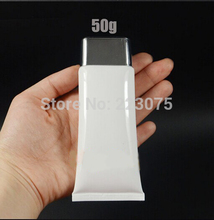 Free shipping 50ml Empty Storage Travel White Tube Cosmetic Hand Cream Lotion Containers Bottle 20pcs/lot