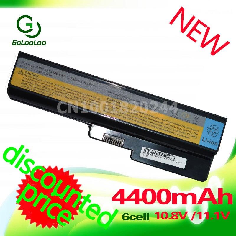 Bateria 4400MaH para Lenovo 3000 B460 Golooloo B550 G550 G555 G430 L08L6Y02 G430L G450 N500 G450A G450M G455 G450 g530 G530A