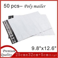 50 Pcs 2 6 Mil Highest Quality White Poly Envelopes Mailing Bags Mailer Shopping Packing 9