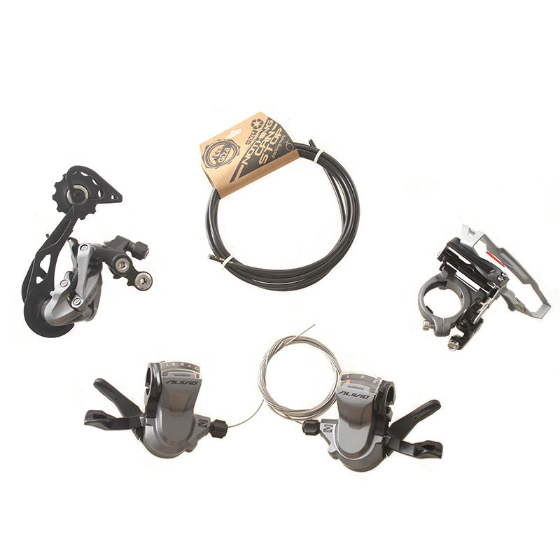SHIMANO ALIVIO M4000 9S 27S Speed MTB Bicycle Groupset Kit 4 Parts with Shifter Lever & Front and Rear Derailleur & Cable 180 16 9 fast fold front and rear projection screen back