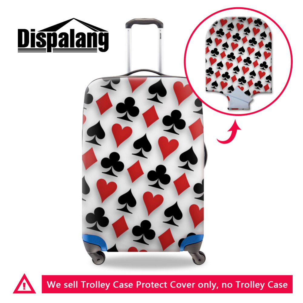 Brand 3D Poker Pattern Print Trolley Accessories Elastic Waterproof Luggage Cover For 18-30 Inch Suitcase Protective Dust Cover