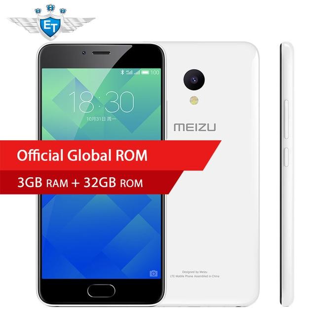 Оригинал Meizu M5 5.2 дюймов 1280x720 Экран смартфон MTK6750 Octa core Flyme OS 13MP 5MP 3 ГБ Оперативная память 32 ГБ Глобальный Встроенная память отпечатков пальцев